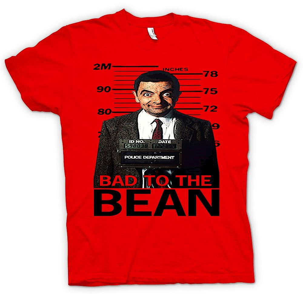 Mens T-shirt - Mr Bean Bad To Bean Mug Shot - Comedy