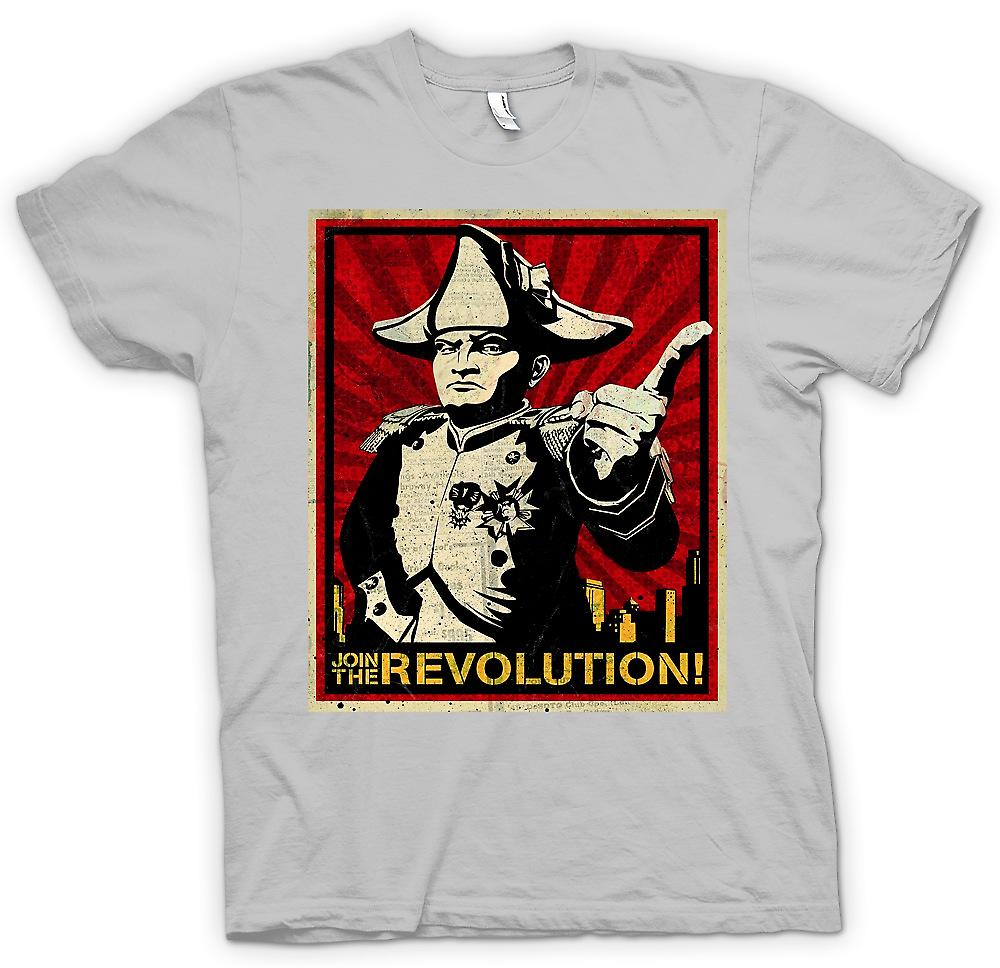 Mens T-shirt - Napoleon - Join The Revolution