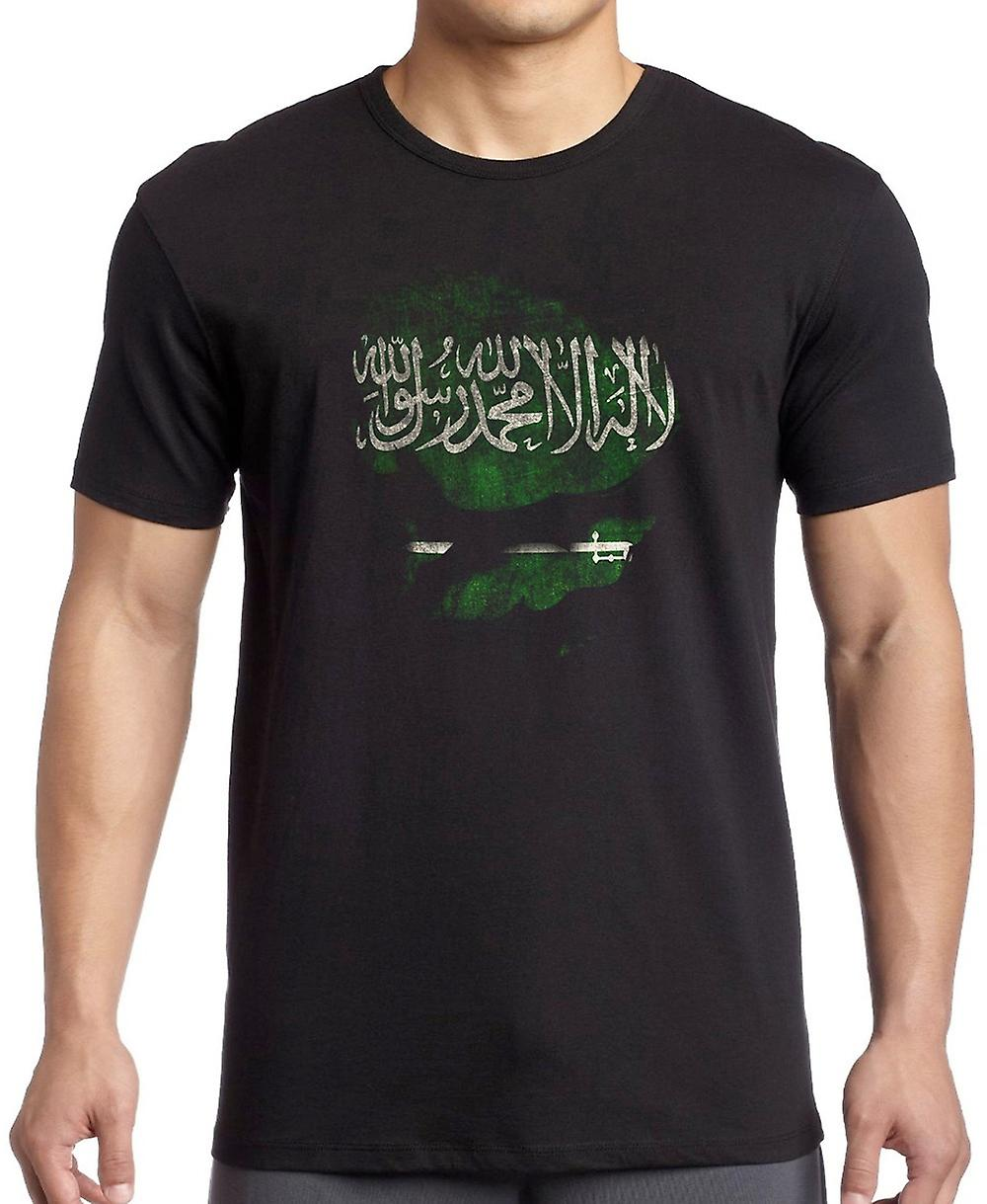 Saudia Arabian Saudi Arabia Ripped Effect Under Shirt Women T Shirt