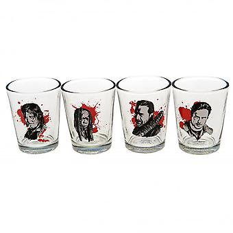 The Walking Dead Official Character Shot Glass Set (Pack Of 4)
