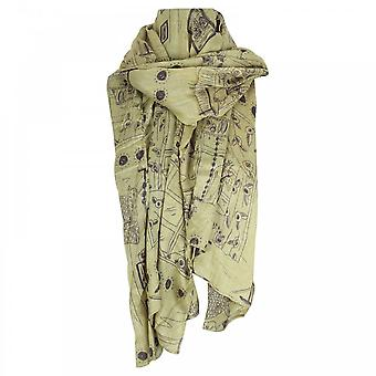 Thought Recycled Polyester Illustrated Scarf