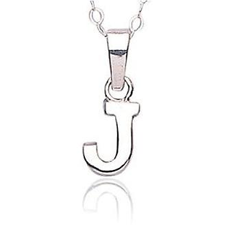 Jo For Girls Sterling Silver Initial 'J' Pendant Necklace 14
