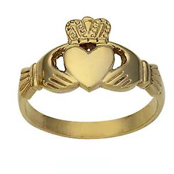 9ct or gents 12mm Claddagh Ring taille R