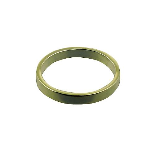 18ct Gold 3mm plain flat Wedding Ring Size Z