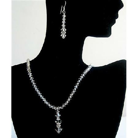 Wedding Jewelry Swarovski Clear Crystals Bridesmaid Bridal Jewelry Set