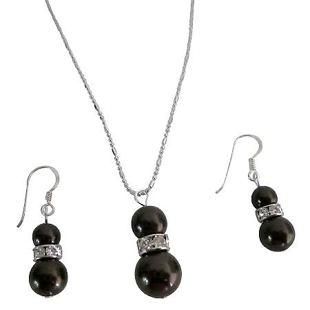 What A Budget-Priced Deep Dark Brown Pearls Jewelry