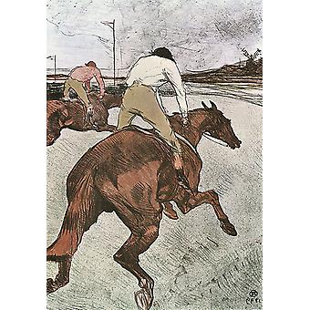 The Jockey,Henri Toulouse-Lautrec,60x40cm