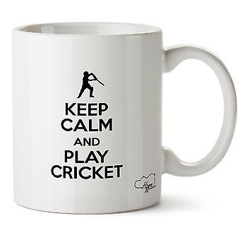 Hippowarehouse houden rust en Play Cricket bedrukte mok beker keramische 10oz