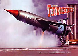Thunderbird 1 steel fridge magnet   (sd)