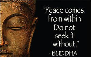 Buddha ''Peace Comes From Within..'' fridge magnet  (ep)