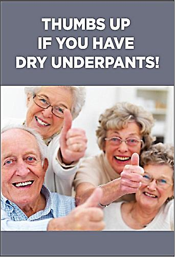 Thumbs Up If You Have Dry Underpants funny fridge magnet (ep)