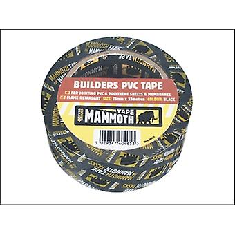 Everbuild bouwers PVC Tape zwart 75 mm x 33 m