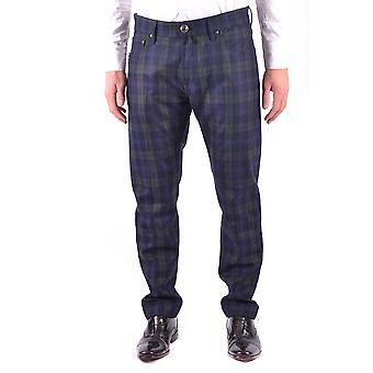 Jacob Cohen Blue Wool Pants