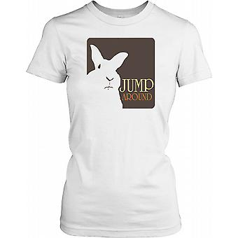 Jump Around - White Rabbit Ladies T Shirt
