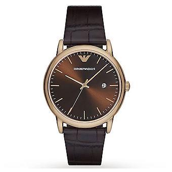 Armani Luigi Brown Sunray Dial Men's Gents Brown Wrist Watch AR2503