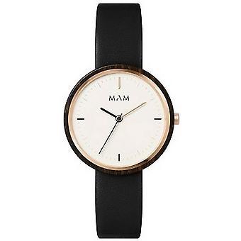 MAM Plano orologio piccolo-marrone/bianco
