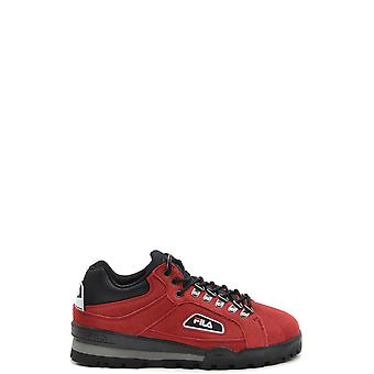 Fila Red Suede Sneakers