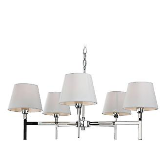 Firstlight-5 licht plafond hanger licht gepolijst roestvrijstaal, crème-8219PST
