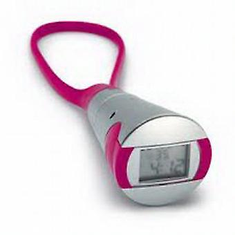 Arco Digital Silver and Hot Pink Handy Stopwatch AR1353