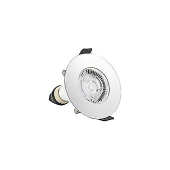 Integral - LED Round Fire Rated Downlight Spotlight Round Polished Chrome GU10 Holder Polished Chrome - ILDLFR70D017