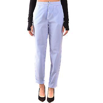 Boutique Moschino Light Blue Cotton Pants
