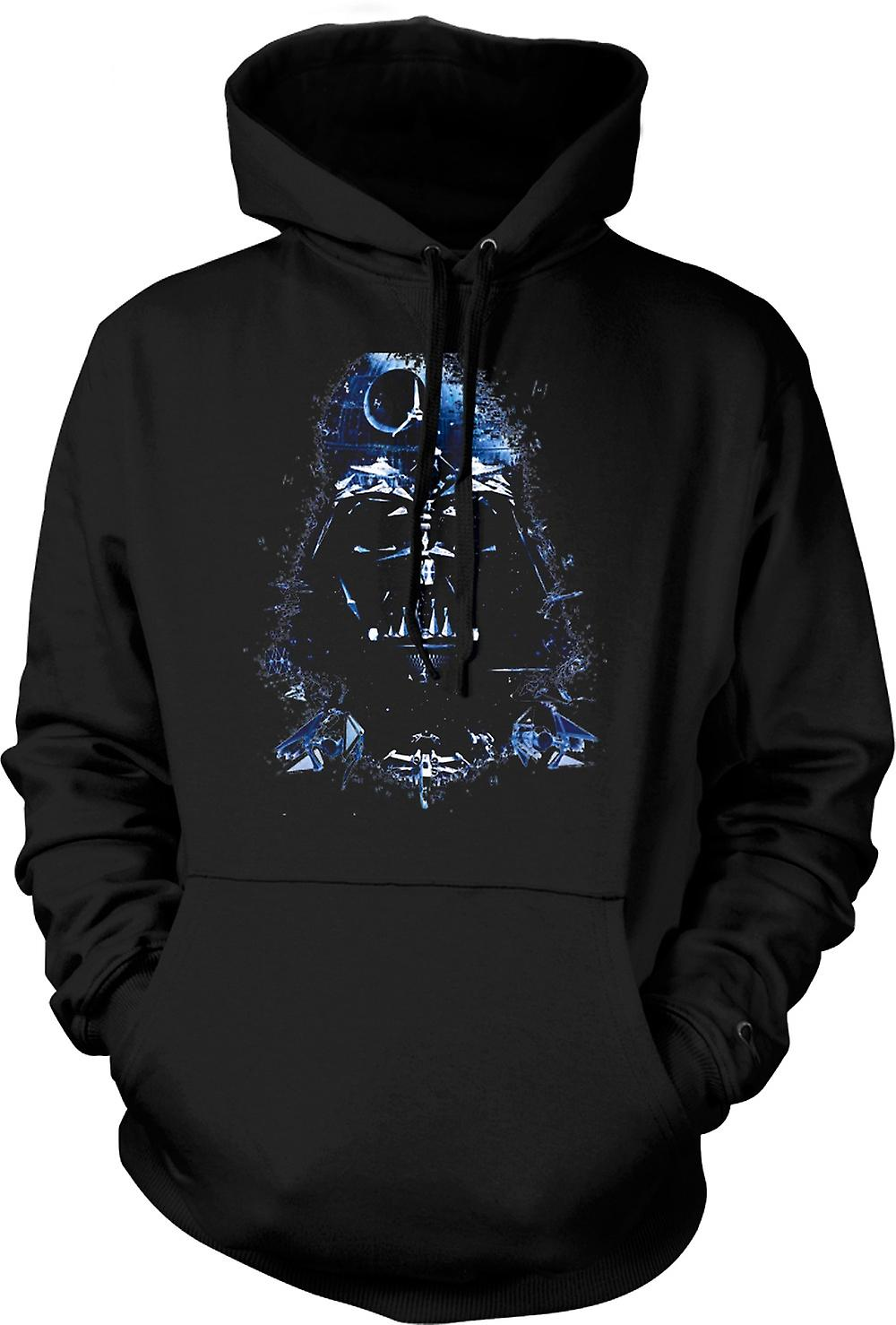 Mens Hoodie - Darth Vader - Death Star