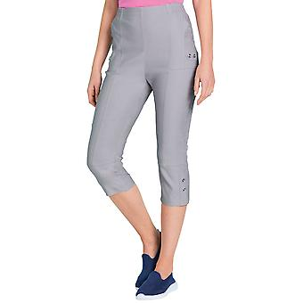Ladies Womens Stretch Crop Trouser