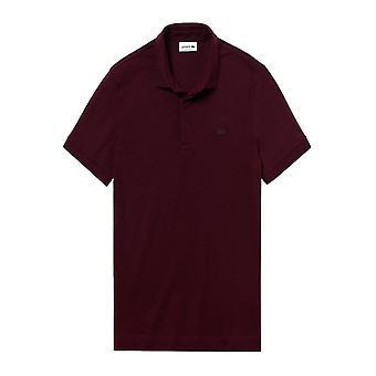 Lacoste Baumwolle Paris Polo Shirt Bordeaux