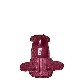 Ladies Womens Slipper Fully Opening Touch & Close Velour Slipper Gladys