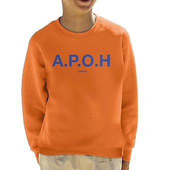 A.P.O.H Classic Cobalt Logo Kid's Sweatshirt