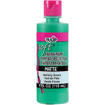 Tulip Soft Fabric Paint 4Oz Holiday Green Matte Tsfp 20411