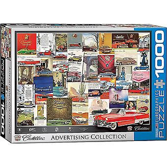 Cadillac Vintage Advertising 1000 piece jigsaw puzzle 680mm x 490mm  (pz)