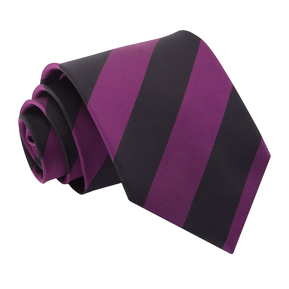 Striped Purple & Black Tie