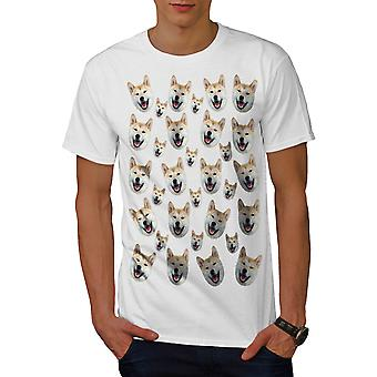 Multiple Shiba Inu Men White T-shirt | Wellcoda