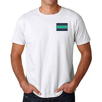 De Queens Royal Hussars geborduurd Logo van de TRF - officiële Britse leger katoenen T Shirt