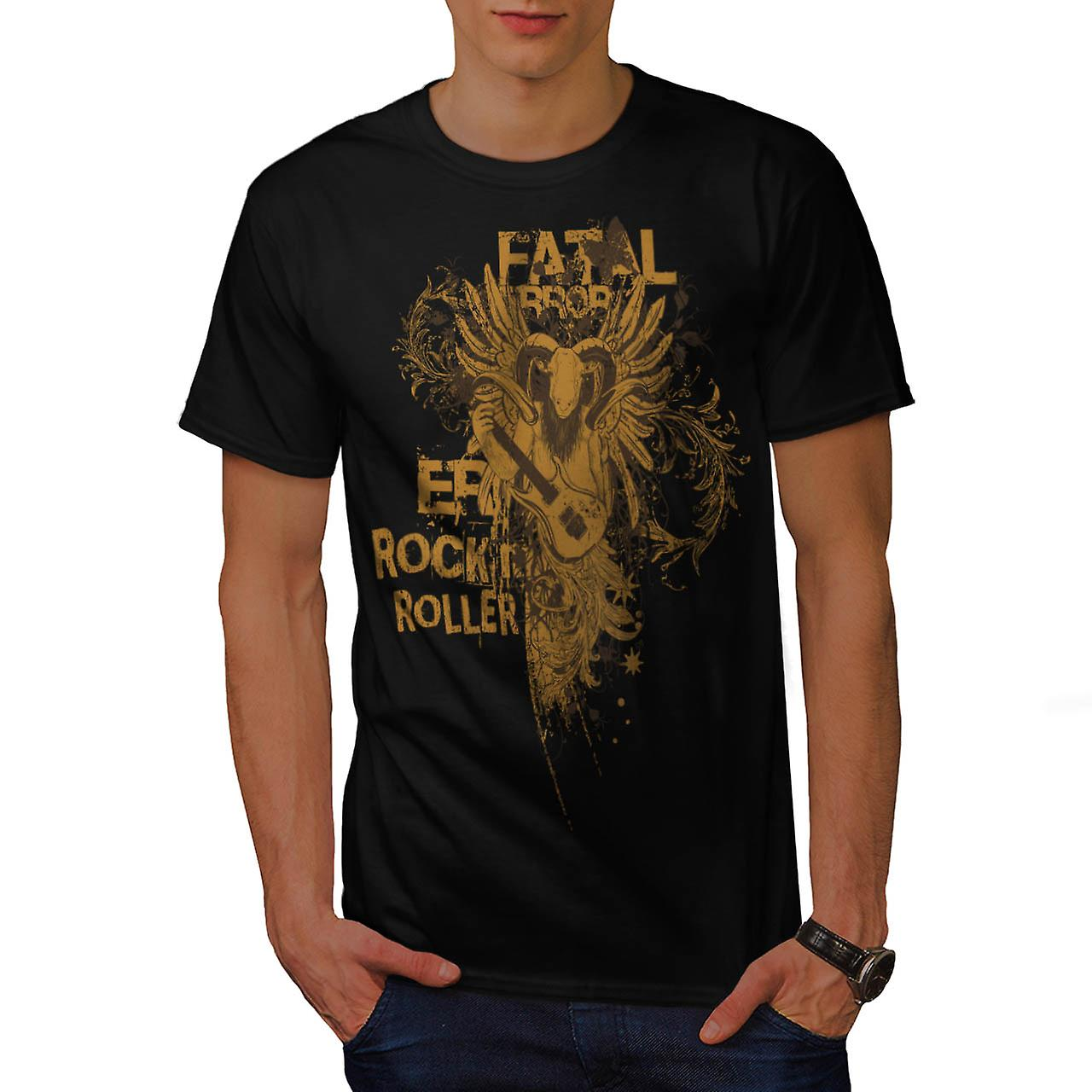 Fatal x Rock Music Men Black T-shirt | Wellcoda