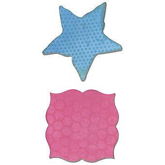 Sizzix Movers & Shapers Magnetic Dies 2/Pkg-Label & Starfish 660357