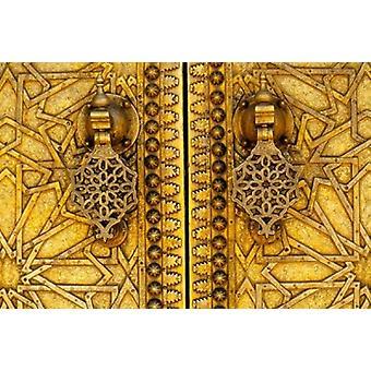 Porte di Palazzo Reale Dar El-Makhsen Fez Morocco Poster stampa di Charles O Cecil