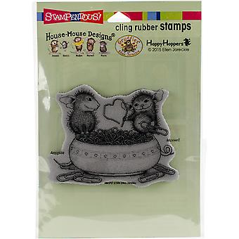 Stampendous House Mouse Cling Stamp 2.75
