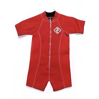 Two Bare Feet Neoprene Classic Baby Wetsuit - Red