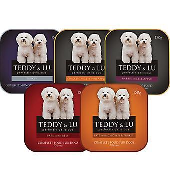 Teddy & Lu komplet blandet bakke 150g (pakke med 12)