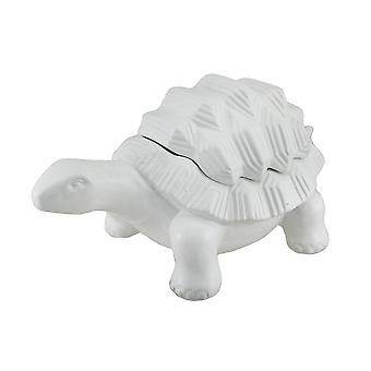 White Ceramic permanent schildpad decoratief vak