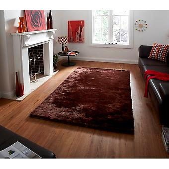 High Quality Soft Brown Savoy Shag Rug - 4 Sizes Available