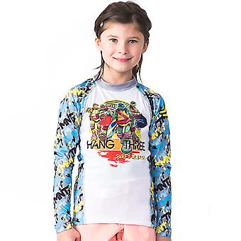 Fusion Fight Gear Kid's TMNT Hang Three Long Sleeve Rashguard