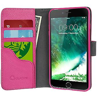 iPhone 7 Case, i-Blason [Wallet Case] Apple iPhone 7 Case-Credit Card ID Holders-Pink