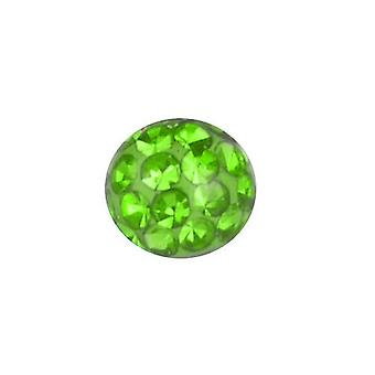 Piercing Replacement Ball, Body Jewellery, Multi Crystal Stones Peridot Green | 4, 5 and 6 mm