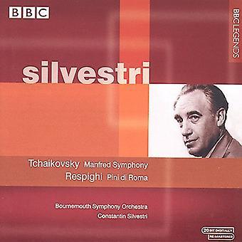 Constantin Silvestri - Tjajkovskij: Manfred symfoni; Respighi: Pini Di Roma [CD] USA importerer