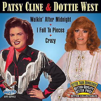 Patsy Cline & Dottie West - Walkin efter midnat / jeg falde til stykker/Crazy [CD] USA import