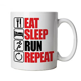 Eat Sleep Run Repeat, Running Mug