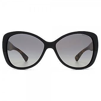 Ralph By Ralph Lauren Flared Sunglasses In Black Tort Temple